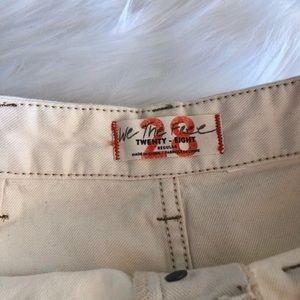 Free People Shorts - Free People Bridgette Cream High-waisted Shorts